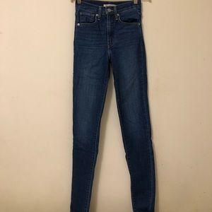 Levi's Mile High Super Skinny Jean, Size 24, Blue